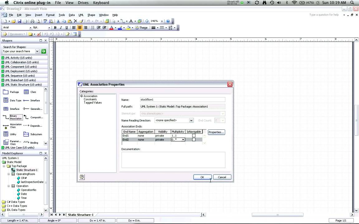 creating uml class diagrams with visio      adding    creating uml class diagrams   visio  part   adding associations    multiplicities
