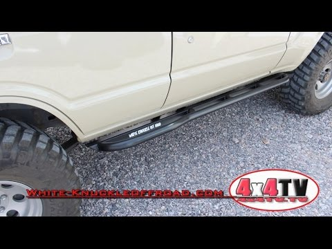 4x4TV Product Review - White Knuckle OffRoad Sliders Install on Toyota FJ600 Land Cruiser