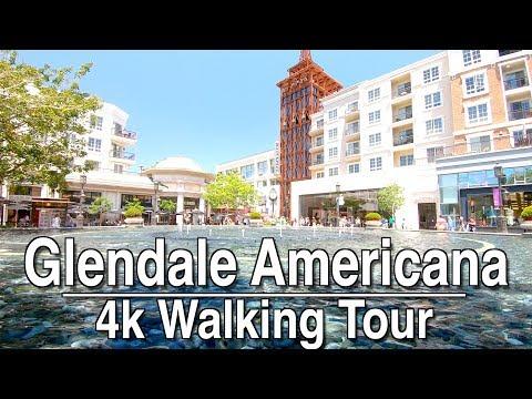 Walking Around Glendale Americana   4K Dji Osmo   Ambient Music