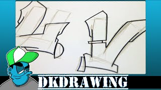 Graffiti Tutorial for beginners - How to draw cool letters U & V