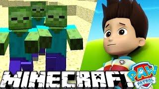 ЩЕНЯЧИЙ ПАТРУЛЬ ПЫТАЕТСЯ ВЫЖИТЬ в МАЙНКРАФТ - Зомби в пещере. Minecraft #8 Развивающий мультик