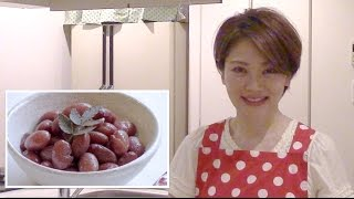 Japanese Cooking recipe : how to make Japanese food : Sweetened Red Kidney Beans : 金時豆の甘煮