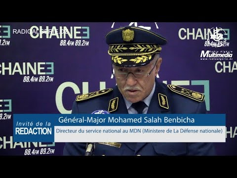 Général Major Mohamed Salah Benbicha Directeur du service national au MDN