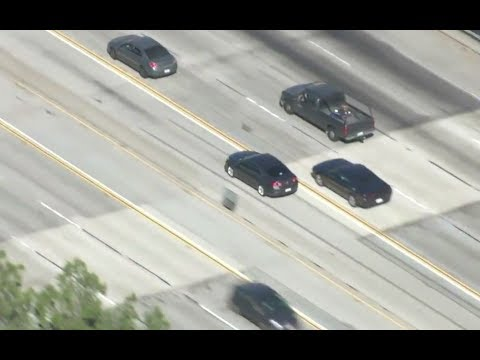 CHP Pursuit in Mission Hills of LA - Oct 23rd 2017