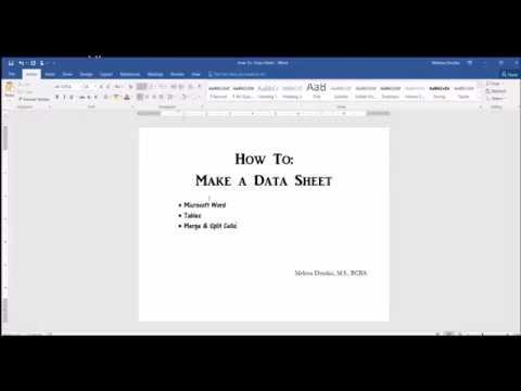 ABA Data Sheet: Part 1 - YouTube