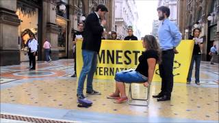 Amnesty Giovani Milano - Flash Mod Galleria Vittorio Emanuele