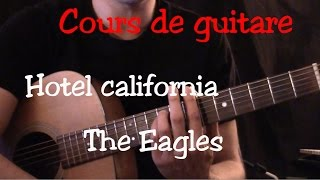 Cours de guitare - Hotel California - Eagles - Part2