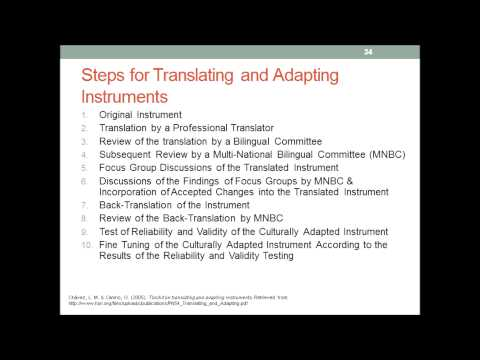 How to develop research Instruments
