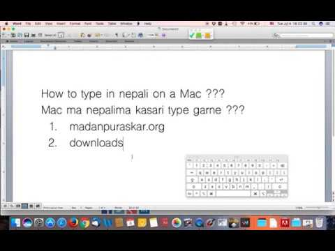 How to type in nepali on a Mac