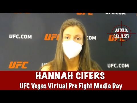 Hannah Cifers pre fight interview. Cifers is the livest dog of the year at +325/-400 tommorow night against Mackenzie Dern.
