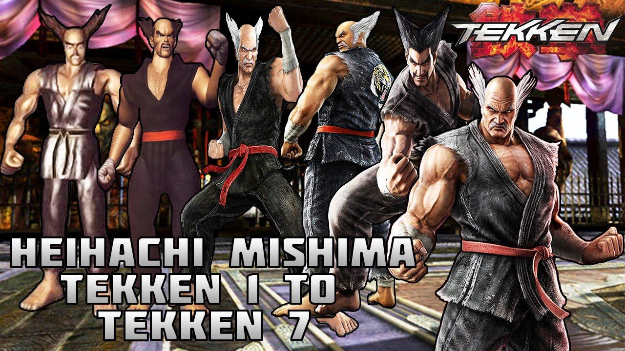 Tekken Heihachi Mishima Evolution 1994 2016