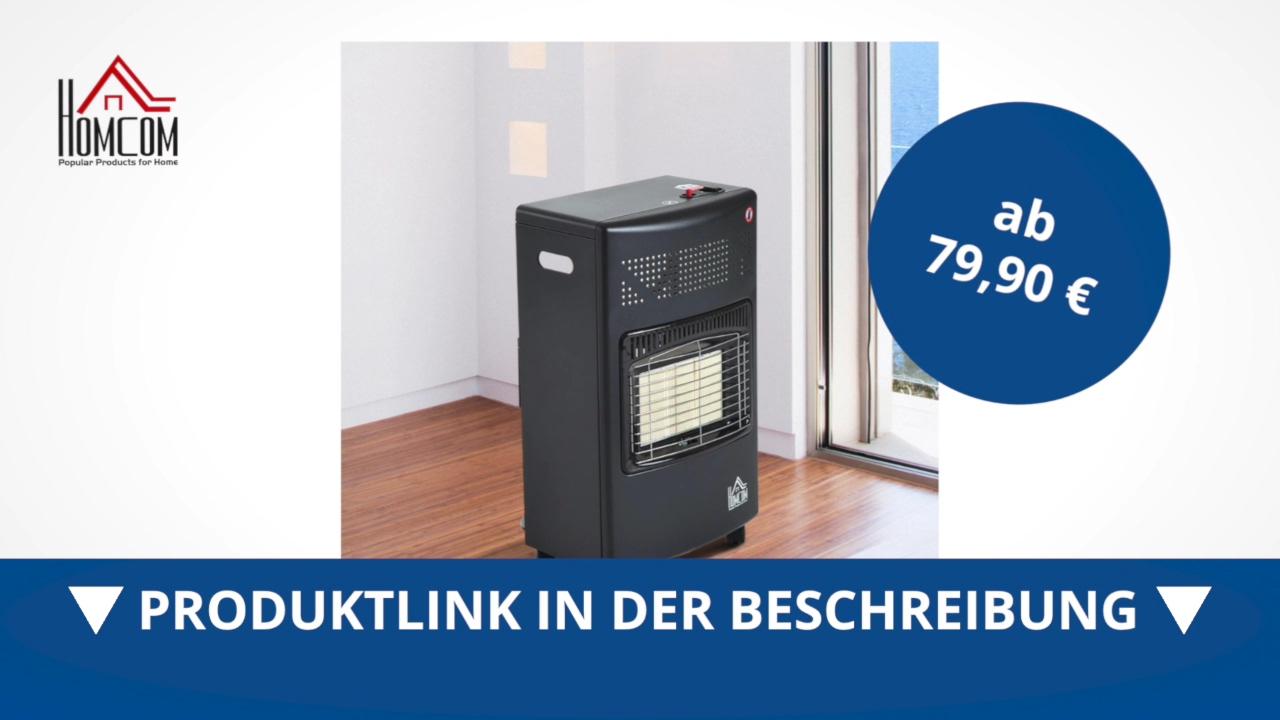 Homcom Gasheizer Mit Flüssiggas Gasofen Heizgerät 4200W - Direkt