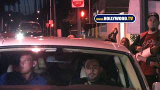Media Frenzy for Kim Kardashian And Boyfriend Miles Austin At Crustaceans