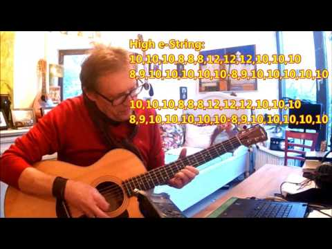 How to play Pictures Of Matchstick Men  Status Quo  Lesson  Tutorial  Rick Parfitt Tribute