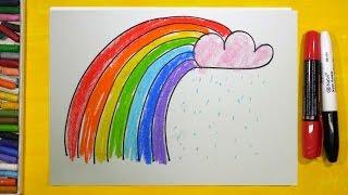 Как нарисовать Радугу, Урок рисования для детей от 3 лет | Раскраска для детей
