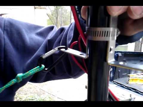 Trolling Motor And Steering Mechanism On Kayak