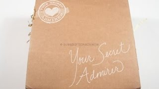 Your Secret Admirer May 2015 Unboxing + Coupons