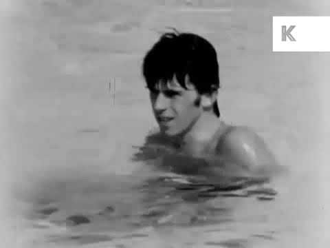Rolling Stones Hanging Out by the Pool RARE FOOTAGE US TOUR Fresno 1965