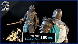 For Honor - UNLOCKING ALL BATTLE PASS TIERS!