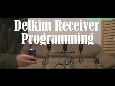 Delkim TX-I Program How To or Standard Plus Bite alarms for carp fishing tutorial step by step