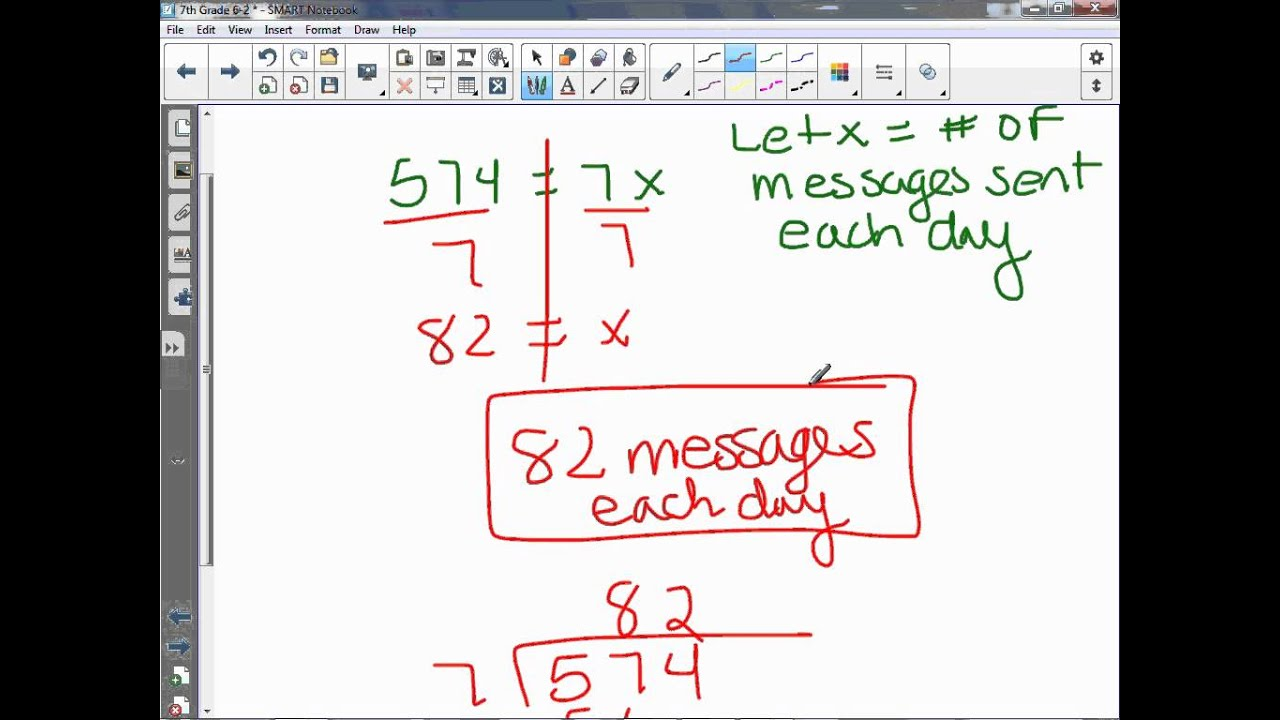 7th Grade 6 2 Multiplication And Division Equations