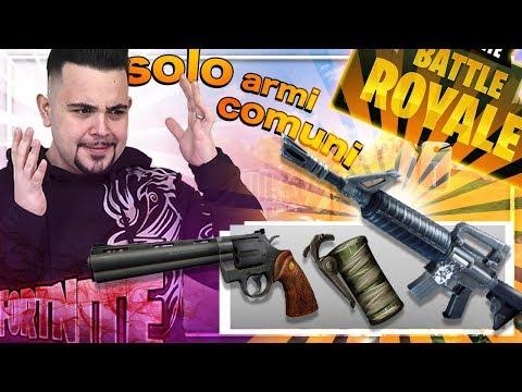 Fortnite : Challenge Epica , Solo Armi COMUNI ... Partita Assurda 😱