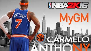 NBA 2K16 MyGM Ep. 1 - New York Knicks | HUGE Trade | Team Relocation?