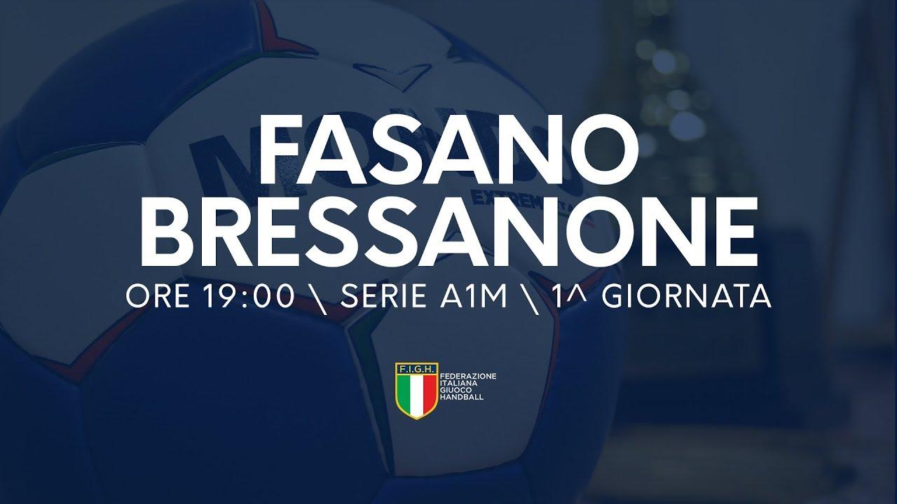 Serie A1 Maschile [1^ giornata]: Junior Fasano - Brixen 32-24