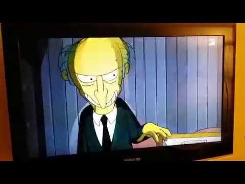 The Simpsons on Austrian TV. Vienna. Austria. 2015-09-15