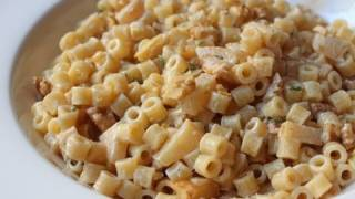 Goat Cheese Apple Walnut Pasta Recipe - Macaroni With Creamy Goat Cheese Sauce