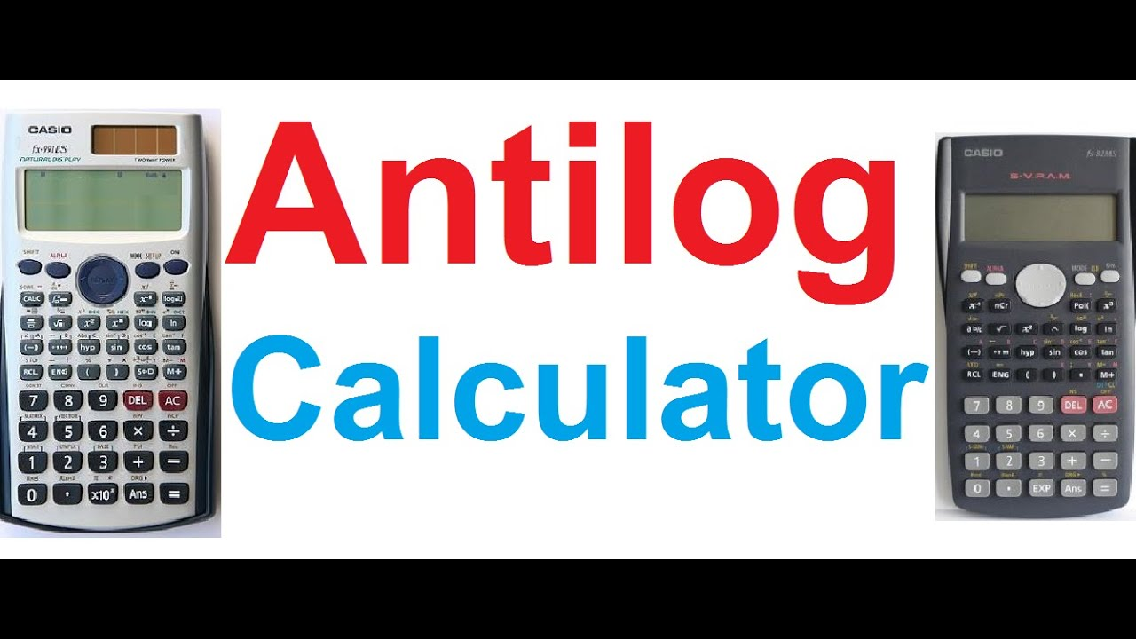 Find the antilog function on your calculator.