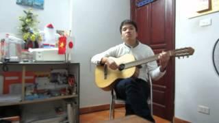 Ngây ngô - Hoàng Yến guitar cover ( tone con trai) :))