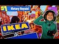 5 YEAR OLD LITTLE SISTER GOT VICTORY ROYALE IN IKEA!! (SISTER PLAYS LIKE NINJA!)
