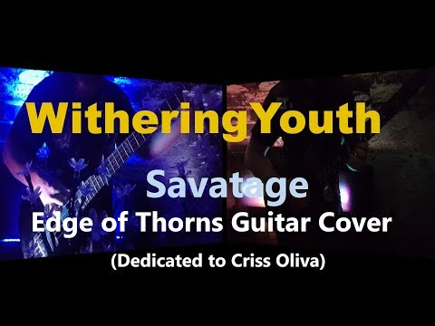Savatage - Edge Of Thorns Guitar Cover With Self-made Backing Track