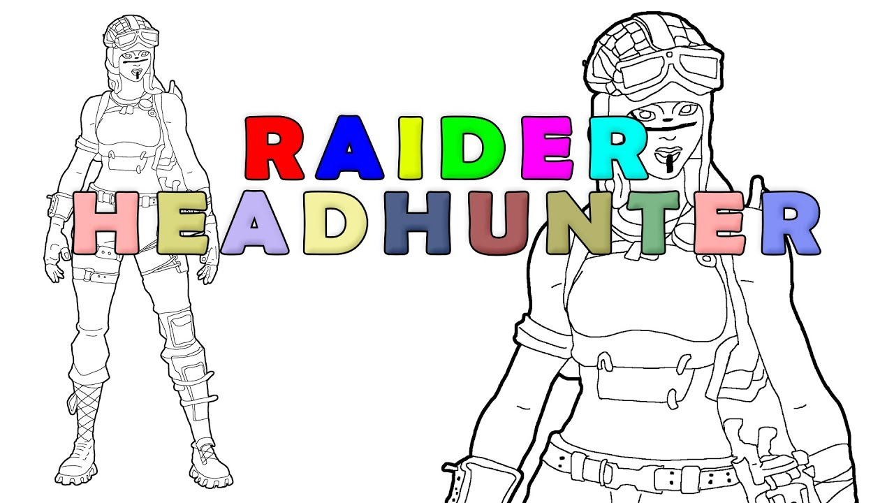 graphic regarding Fortnite Printable Images called Fortnite Raider Headhunter Do-it-yourself printable coloring website page for little ones