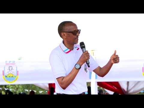 RPF Chairman Paul Kagame campaigning in Bugesera, 19 July 2017
