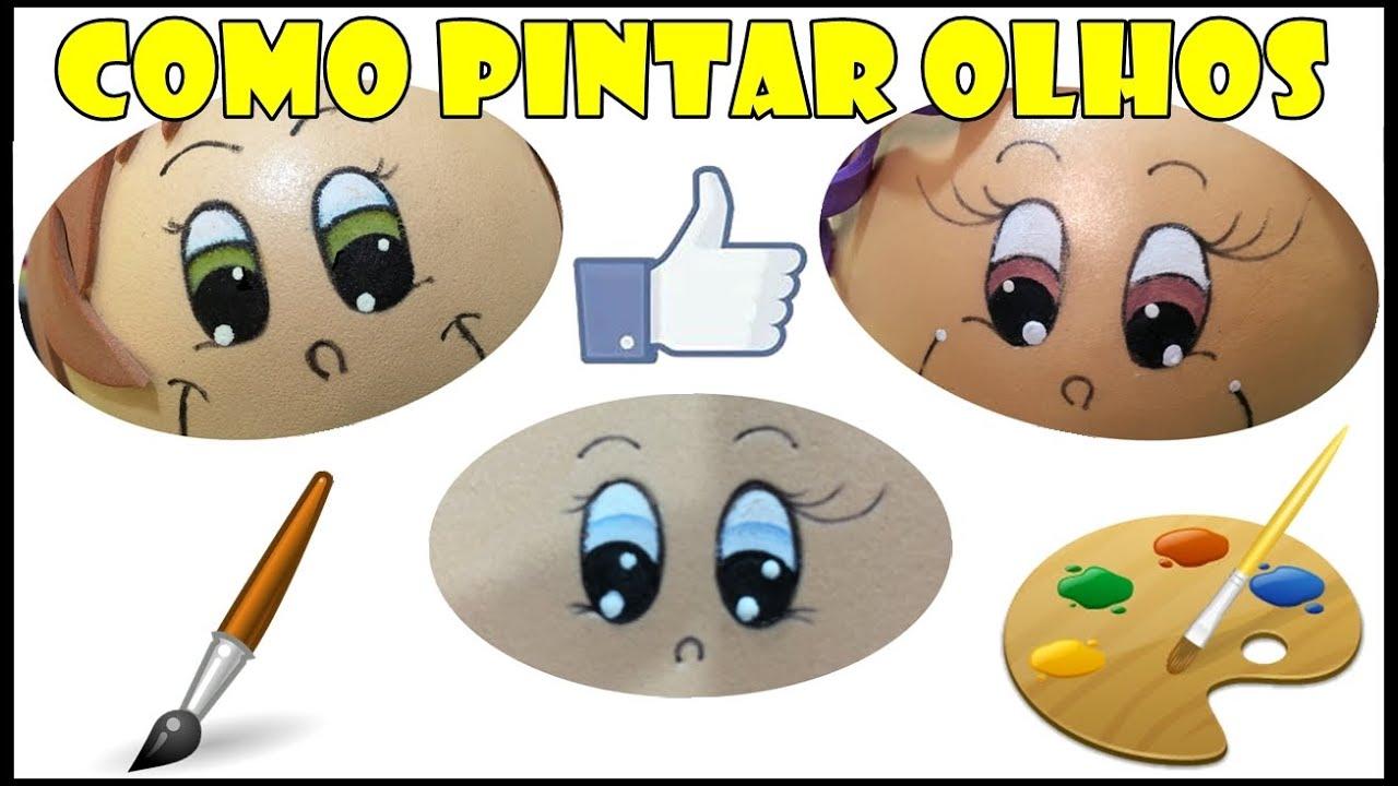Como Pintar Olhos Para Bonecos Facil Lucas E V Arts Youtube