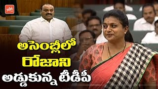 MLA Roja Speech In AP Assembly Stopped By TDP | Day 2 | YS Jagan Speech | Tammineni Sitaram | YOYOTV