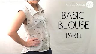 Basic blouse DIY - FIRST PART