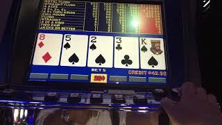 "Video poker play at Oregon casino """