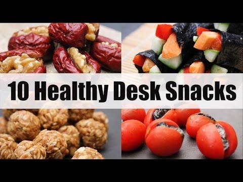 10 Healthy Desk Snacks for School or Work | Joanna Soh | Under 200Cals!