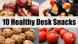 10 Healthy Desk Snacks for School or Work | Joanna Soh | Under 200Cals!