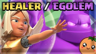 Using New Battle Healer Elixir Golem Meta Deck in Global Tournament - 12 Wins 🍊