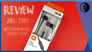 JBL T110 Pure Bass Earphone Review : Best budget earphone.