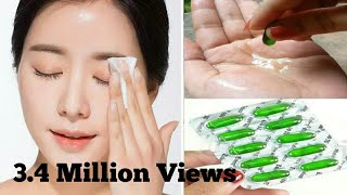 Vitamin e capsule treatment for spotless glowing face /vitamin e capsule benefits for face.