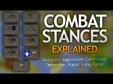 Combat Stances Explained (Accurate/Aggressive/Controlled/Others)