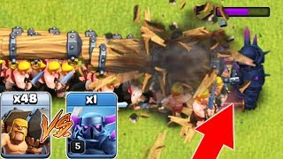 ТАРАНЫ ПРОТИВ ПЕККИ!!!  КТО ПОБЕДИТ??? Clash of Clans