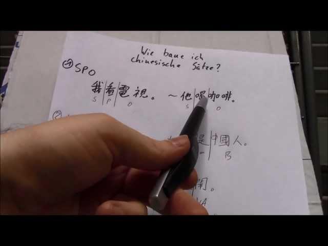 (29) Wie baue ich chinesische Sätze?