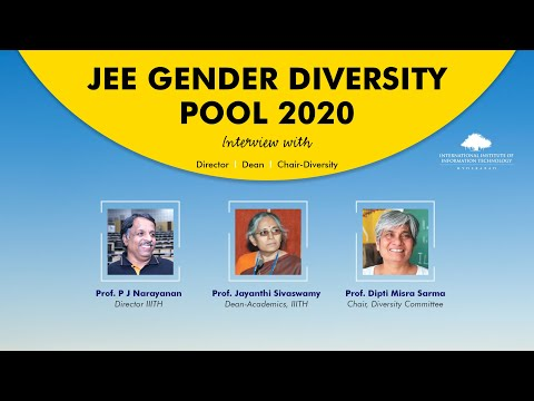 JEE Gender Diversity Pool 2020 - Interview With Director, Dean, Chair-Diversity