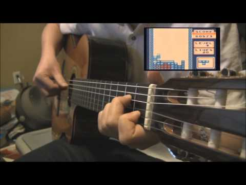 Tetris Theme (Level 1) - Fingerstyle Guitar Tab